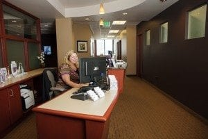 Metro Dental Care Dentist Office reception area in Denver and Lone Tree