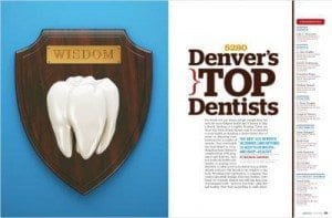Denver's Top Dentists Award for Metro Dental Care