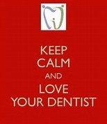 keep calm love dentist