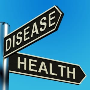 signpost directions to disease or health